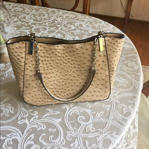 Handbags - Tan leather purse